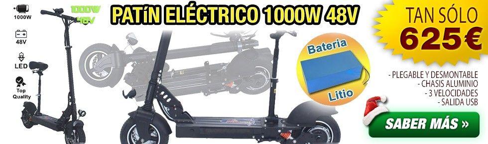 PATIN ELÉCTRICO LITIO 1000W 48V