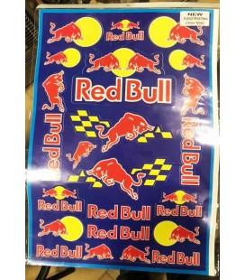 Pliego de adhesivos Red Bull