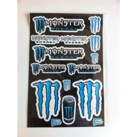 Kit pegatinas Monster Azul