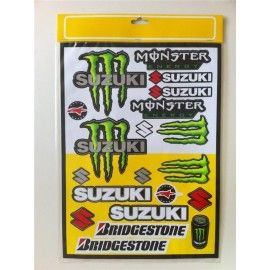 Kit pegatinas Monster Suzuki
