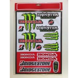 Kit pegatinas Monster Honda