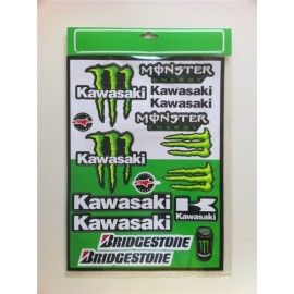 Kit pegatinas Monster Kawasaki
