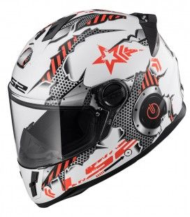 CASCO LS2 JUNIOR MACHINE ROJO/BLANCO