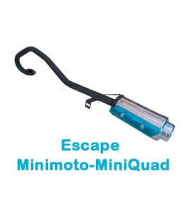 TUBO ESCAPE MINIQUAD/MINIMOTO CHINA AIRE