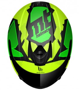 CASCO MT JUNIOR THUNDER TORN FLUOR YELLOW/FLUOR GREEN