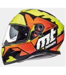 MT THUNDER 3 SV TORN GLOSS FLUOR YELLOW/FLUOR ORANGE XS