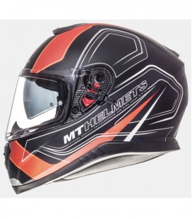 MT THUNDER 3 SV TRACE MATT BLACK/FLUOR ORANGE