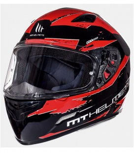 MT MUGELLO VAPOR GLOSS BLACK/INTENSE RED XS