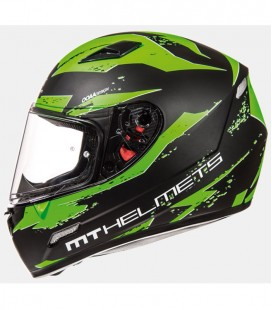 MT MUGELLO VAPOR MATT BLACK/FLUOR GREEN