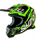CASCO SHIRO MX-917 THUNDER KIDS VERDE FLUOR