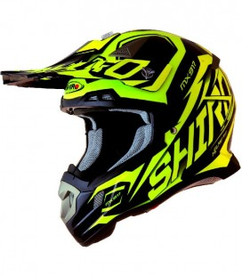 CASCO SHIRO CROSS MX-917 THUNDER AMARILLO FLUOR