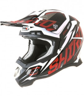 CASCO SHIRO CROSS MX-917 THUNDER ROJO