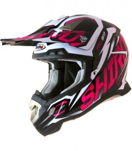 CASCO SHIRO CROSS MX-917 THUNDER ROSA FLUOR