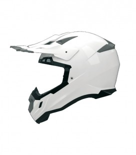 CASCO SHIRO CROSS MX-917 MONOCOLOR BLANCO