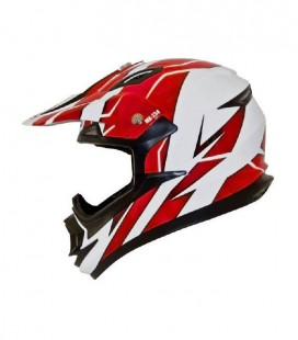 CASCO SHIRO CROSS MX-734 TROY ROJO FLUOR