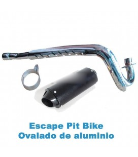 TUBO ESCAPE OVALADO ALUMINIO 32MM