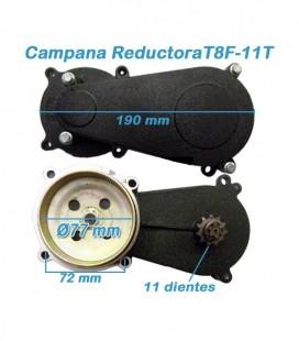 Campana / reductora off road Replica KTM minicross / miniquad 2t Corta 11 Dientes